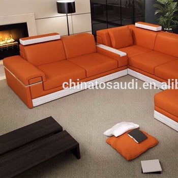 made in china leather sofa, modern design, orange mix color, View modern  leather sofa, SaudiChina Product Details from Cbmmart Limited on Alibaba.com