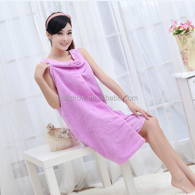 Custom Microfiber Ladies Bath Towel Dress