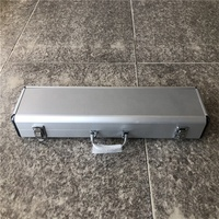 Wholesale silver aluminum equipment flight proof hard rifle gun case
