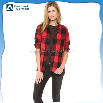 new product 0146f 4c156 Langärmeliges Kariertes Hemd Für Frauen Gestalten Rotes Und Schwarzes  Kariertes Hemd - Buy Kariertes Hemd Für Frauen,Rot Und Schwarz Kariertes ...
