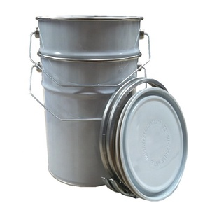 custom 20 liter 20L 5 gallon paint galvanized metal bucket with handle and lock ring lid
