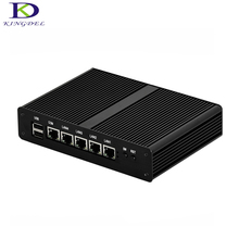 Kingdel Industrial Mini PC J1900 Quad core 4 LAN 1080P 12V Mini Desktop Computer 1*VGA