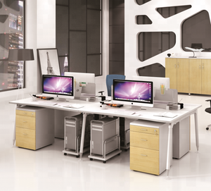 4 person office furniture cell phone repair reception call center mobile partition computer modular workstation