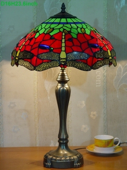 16inch tiffany table lamp pastoralism dragonfly style from factory 16S4-267T246