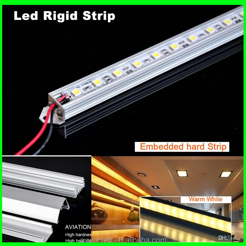 Cabinet showcase led rigid strip light aluminum shell IP20 12v 5630 smd rigid led strip for Jewelry lightings