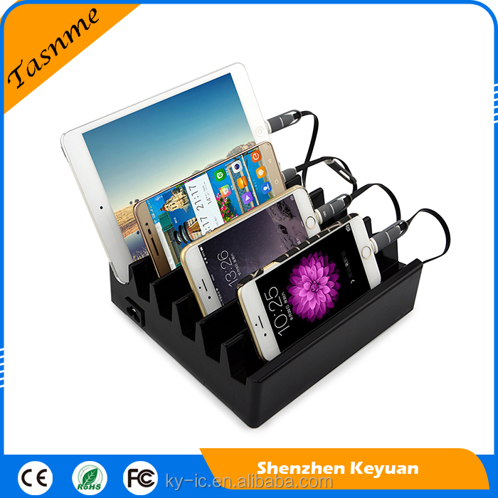 Popular 2017 Hot Sell 6 Port Usb Charger Desktop Restaurant Cell Phone Charging Station