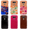 In store OEM color printing leather slim pocket phone case for LG G5, with shrapnel stand optional