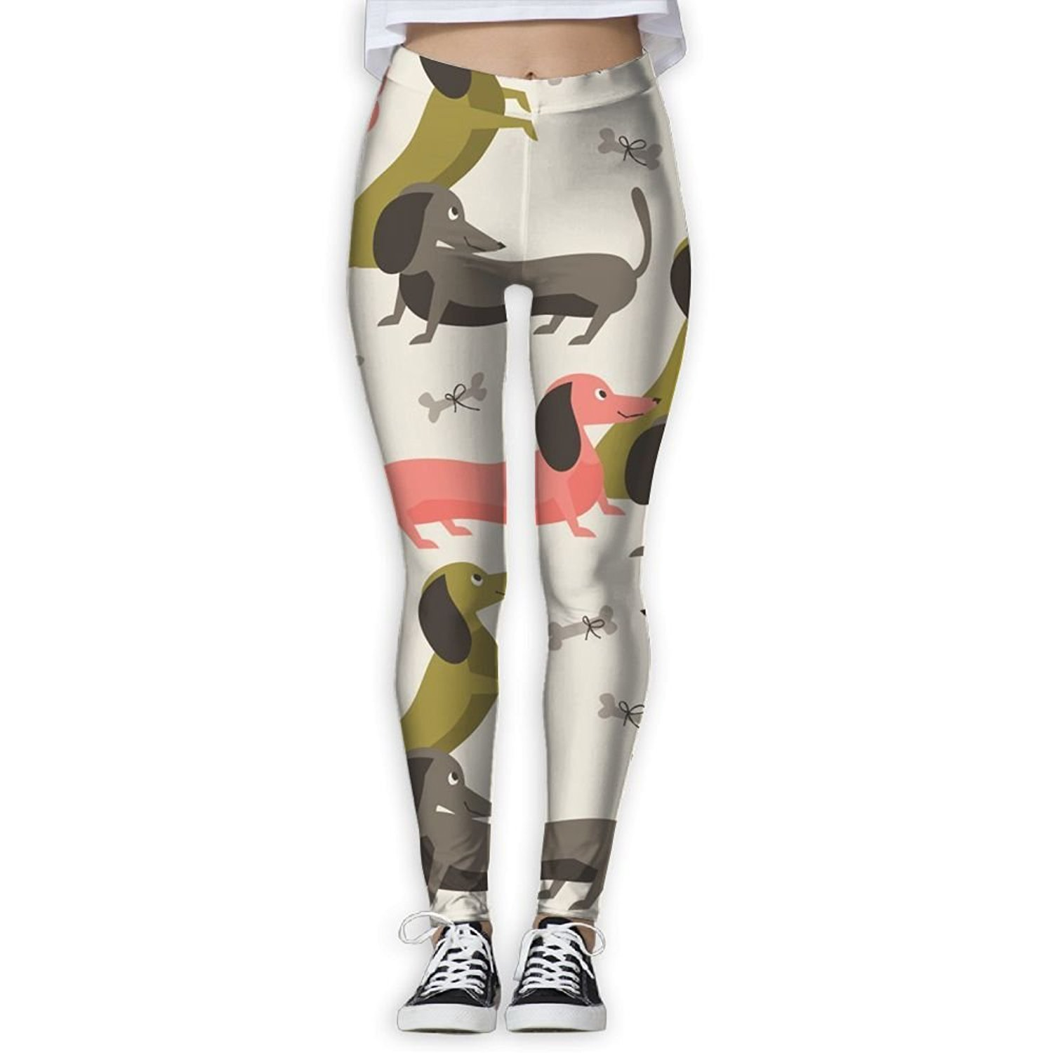 4fcbba4bcb129 Get Quotations · KUKUUU Dachshund Puppy Youth Thermal Yoga Pants Workout  Leggings Football Tight Pants