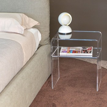 Custom Acrylic Side Table Clear Bedside