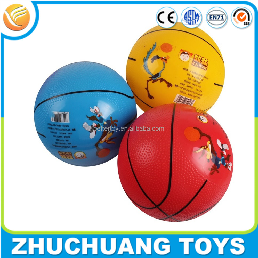 wholesale cheap pvc customize big logo printed your own basketball