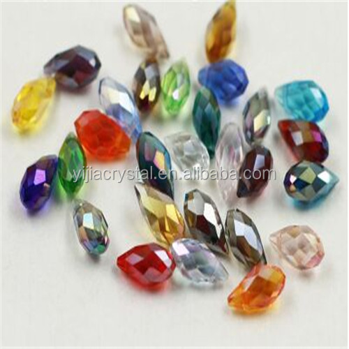 Tear Drop Faceted Crystal Glass Beads