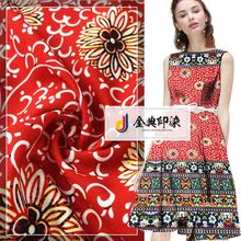 Factory price designer comfortable garment chiffon floral design fabric