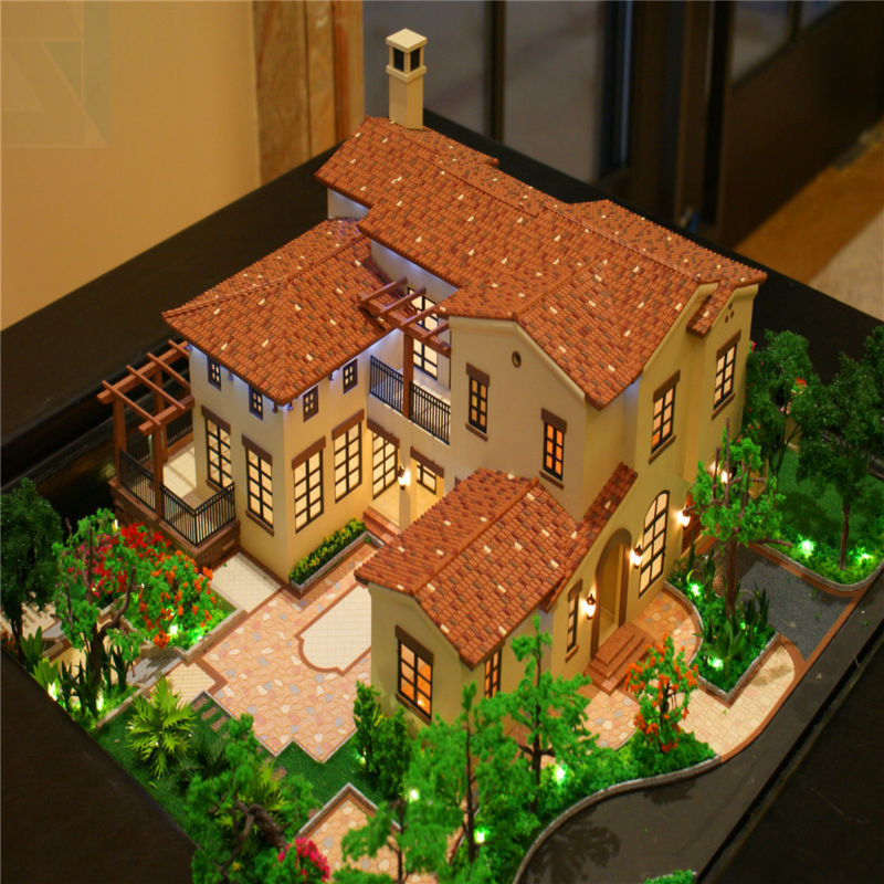 3d rendering design for architectural model led scale model villa