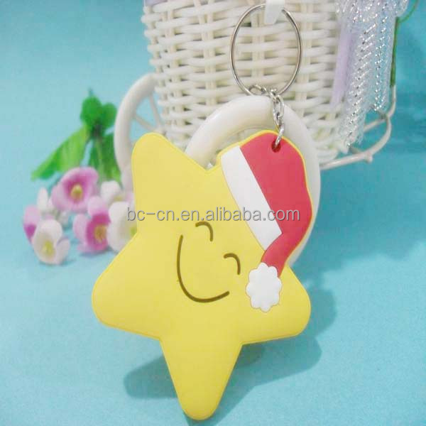 China supplier sales cheap pvc custom keychain