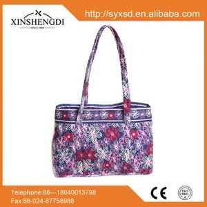 Best selling cotton beautiful quilted trendy side by ds handbags