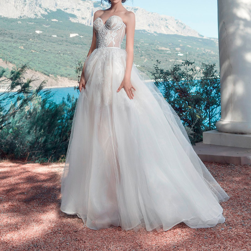 9bee6d0738 China white a-line classic wedding dresses wholesale 🇨🇳 - Alibaba