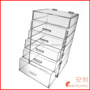 Tiered Acrylic Makeup Organizer Drawers / Storage Containers