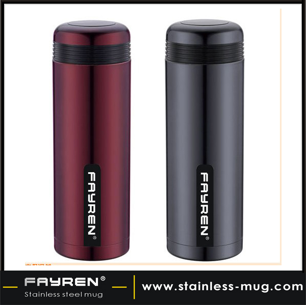 Double layer stainless steel vacuum flask thermos