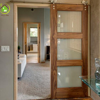 interior glass sliding barn doors