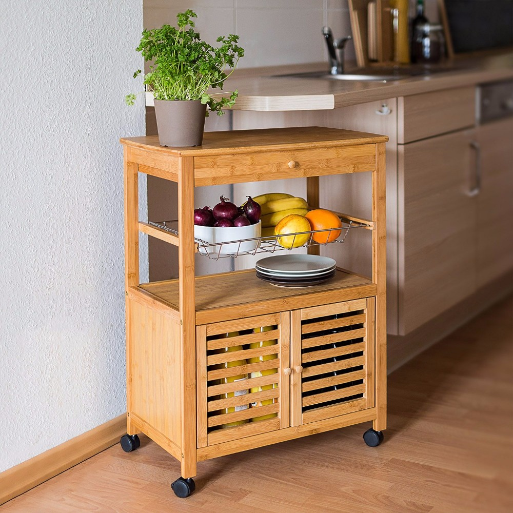 High Quality wooden kitchen trolley 3