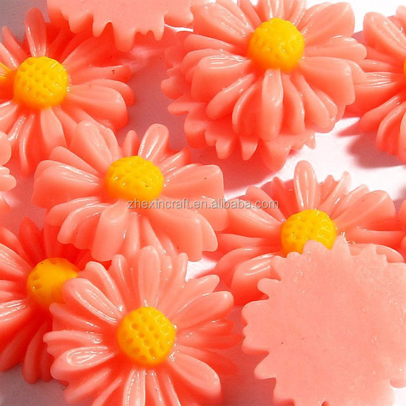 Small MOQ +high quality bulk resin flower, resin flower cabochons, resin rose flower
