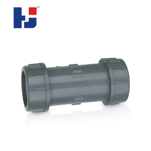 Chinese supplier plastic upvc quick connection compression coupling fitting pipe