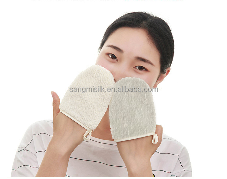 silk makeup remover super microfibers makeup remover beauty gloves