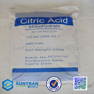 best monohydrate and anhydrous citric acid 100% pure food grade / ensign citric acid