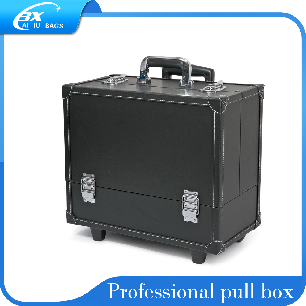 Pull rod cosmetic case professional beauty hair and makeup box color makeup tattoo tool kit