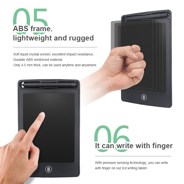 Supplier 6.5 Inch Paperless Digital Notepad Handwriting Pad Kids Electronic Lcd Writing Tablet
