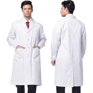 Hospital Professional Doctor Wear Hi Vis Medical White Lab Coat