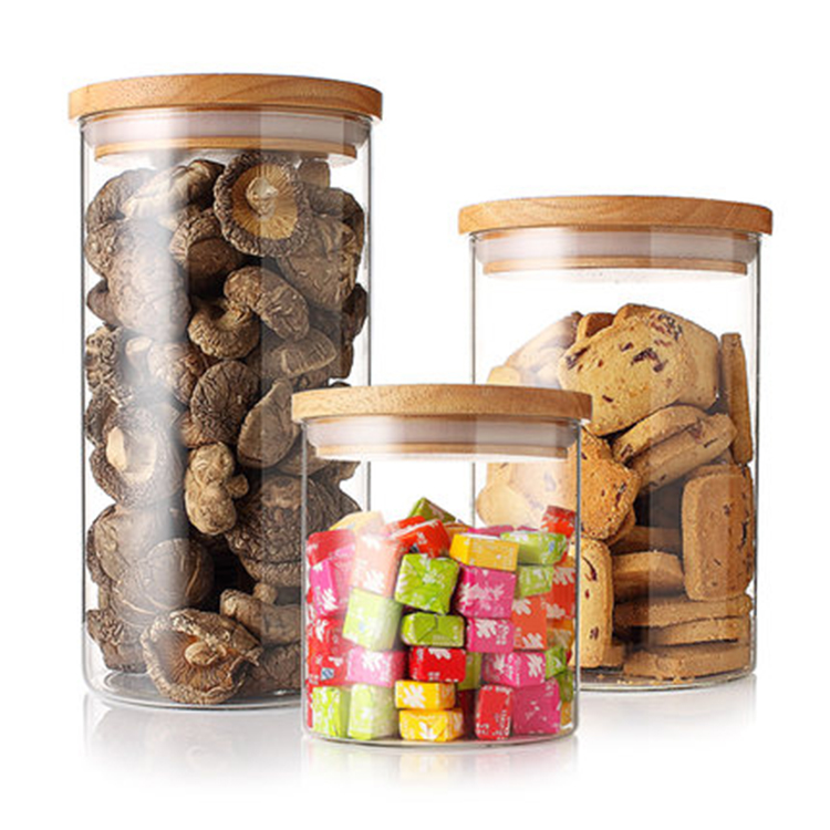 2018 Best popular 1000ml kitchen accessory glass candy jar