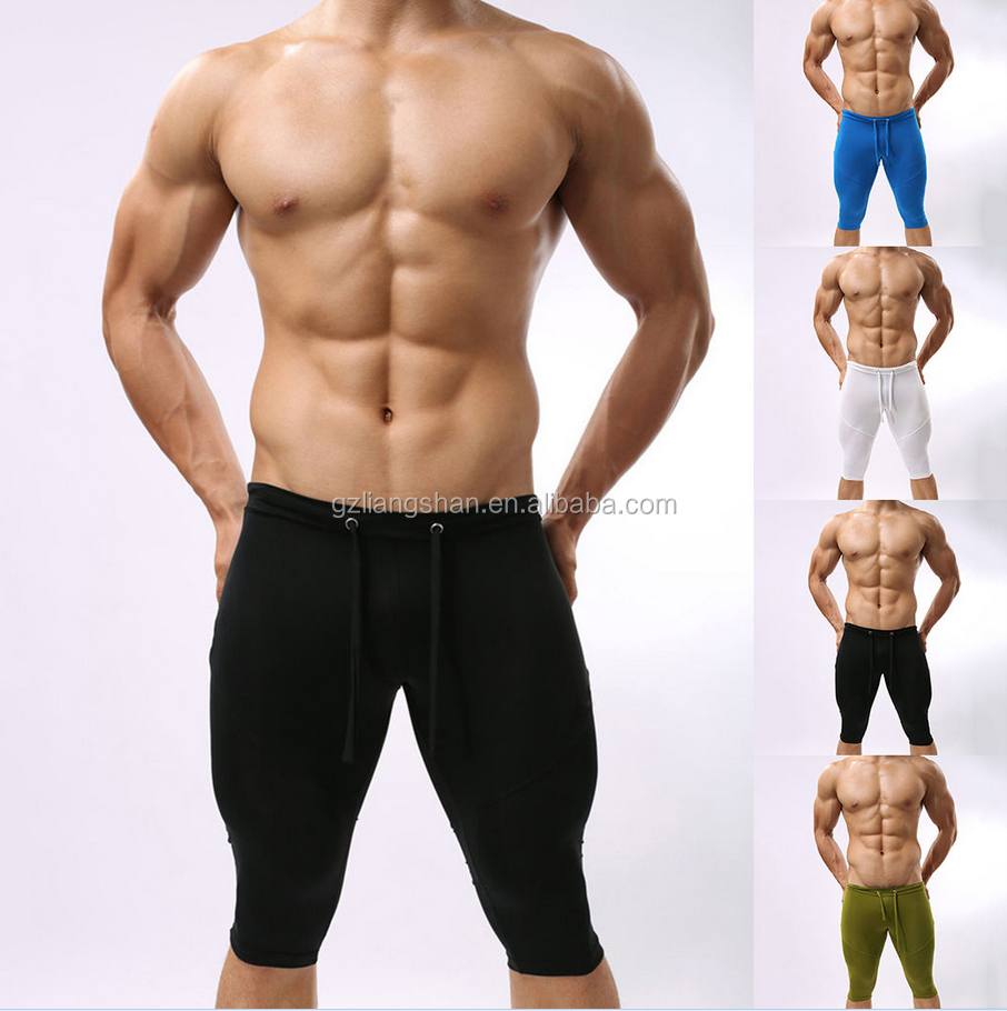 Mens Compression Shorts Under Base Layer Shorts Stretch Sport Running Yoga Tight Pants