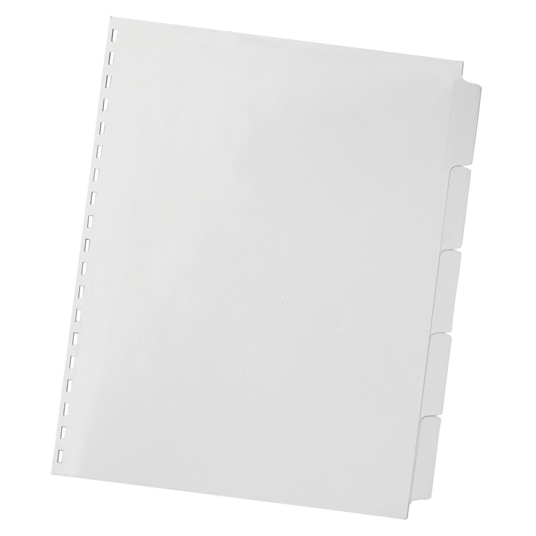 Swingline GBC ZipBind Pre-Punched Tabs, 5 Tab Set, White (26008)