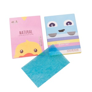 High quality Portable Make Up 100pcs colorful Facial face Clean oil blotting paper Tissues