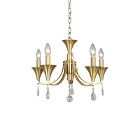 Hot sell antique brass copper chandelier crystal pendant for home decoration