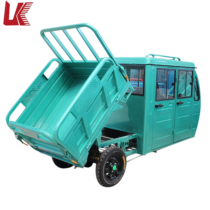 3 wheel electric motorcycle car with drive cabin/electric tricycle tuk tuk for cargo/three wheeler cargo tricycle for delivery