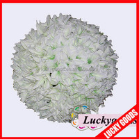 cream white lily artificial hanging flower ball wholesale