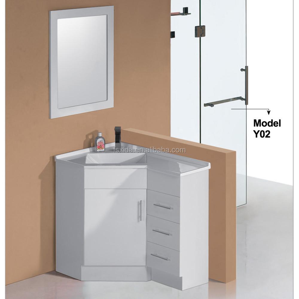 guangdong lack mdf ecke bad waschbeckenunterschrank. Black Bedroom Furniture Sets. Home Design Ideas