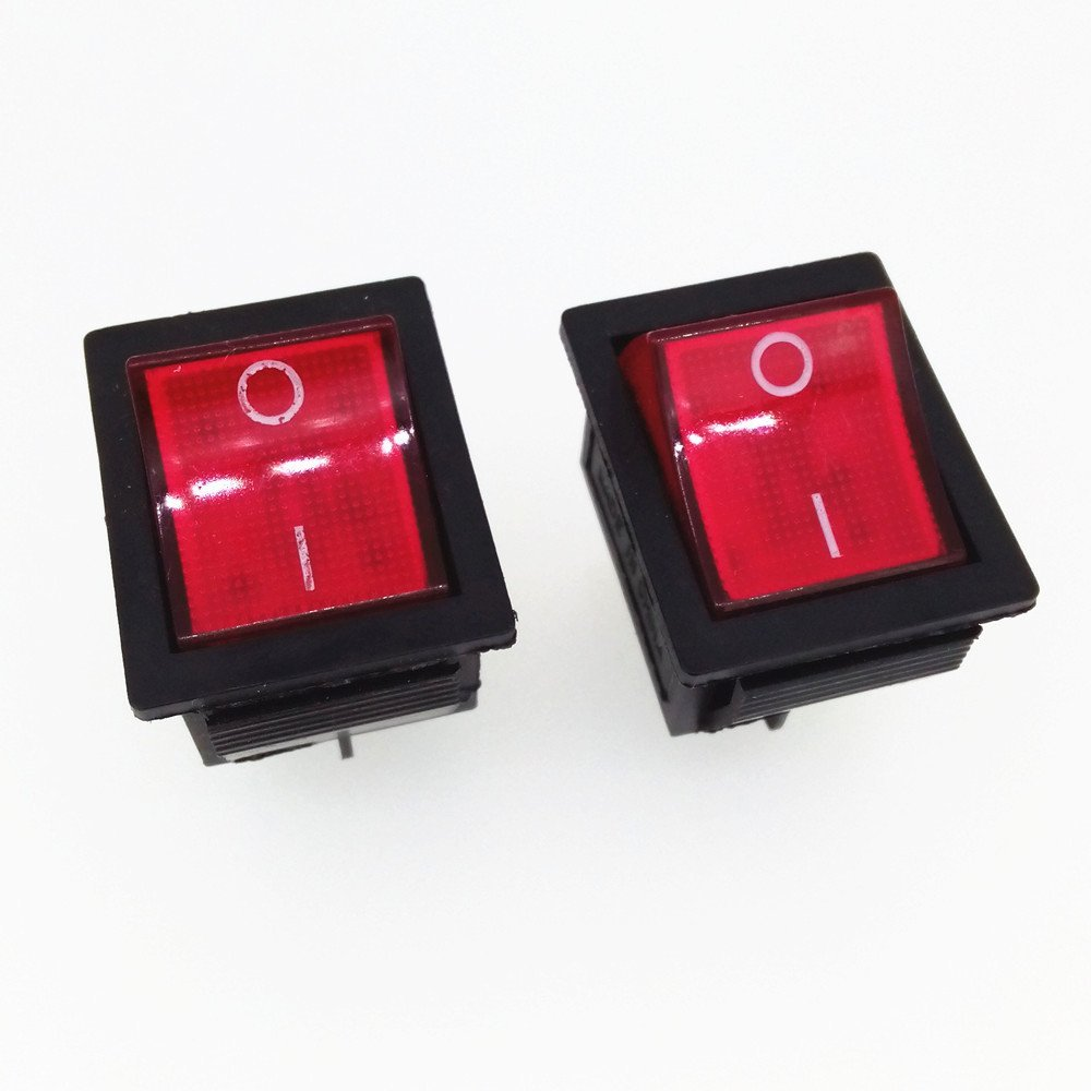 Cheap 2 Rocker Switch Find Deals On Line At Alibabacom 12v Lighted Spst All Electronics Corp Get Quotations 2pcs Red Light Off 250 V 15 Amp 125 20 A