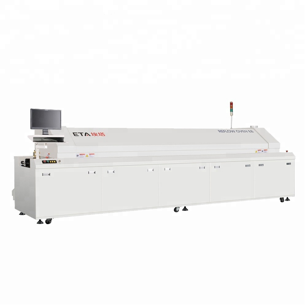 Reflow Soldering Oven Machine Hot Air SMD Production Line for LED Lamp
