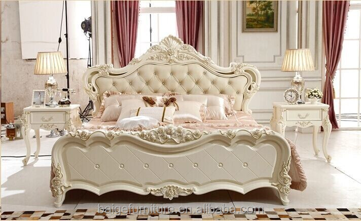 Bd- Modern House Design Resin Wood King Bed Wooden King Bed