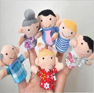 New design funny animal cartoon Soft Mini Finger puppet customized Plush Finger stuffed toy