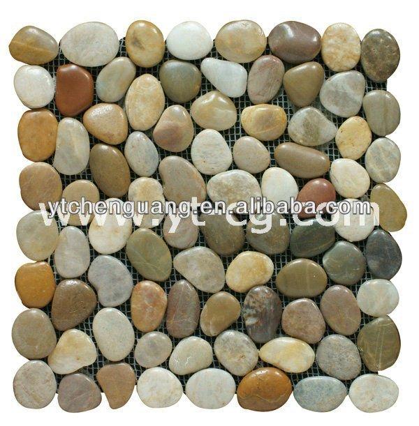 Natural Pebble Cobble Stone Mat Carpet
