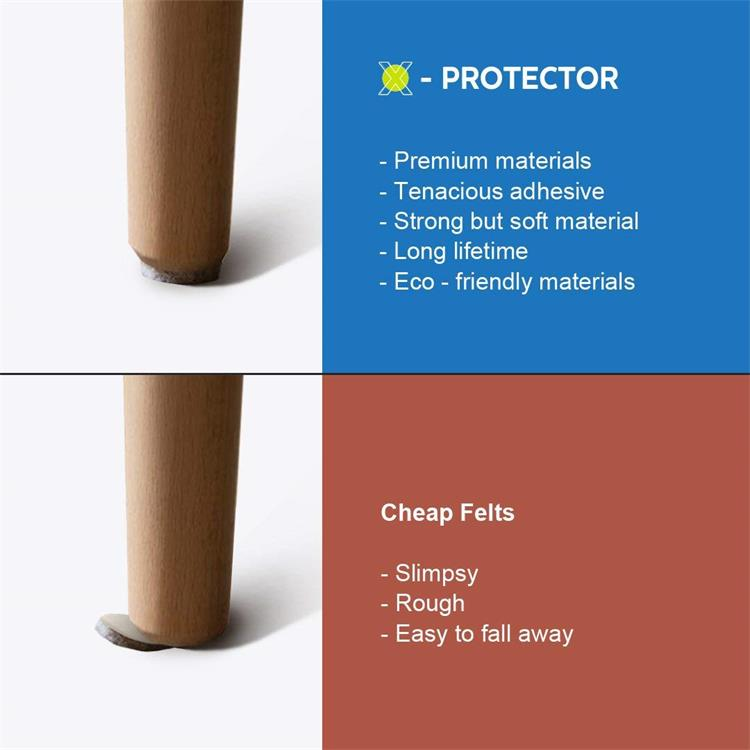 Heavy Duty Furniture Feet Premium adhesive furniture felt pad for Hardwood Floors Protection