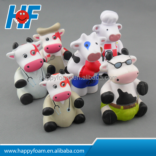 cow family stress ball ,antistress cow