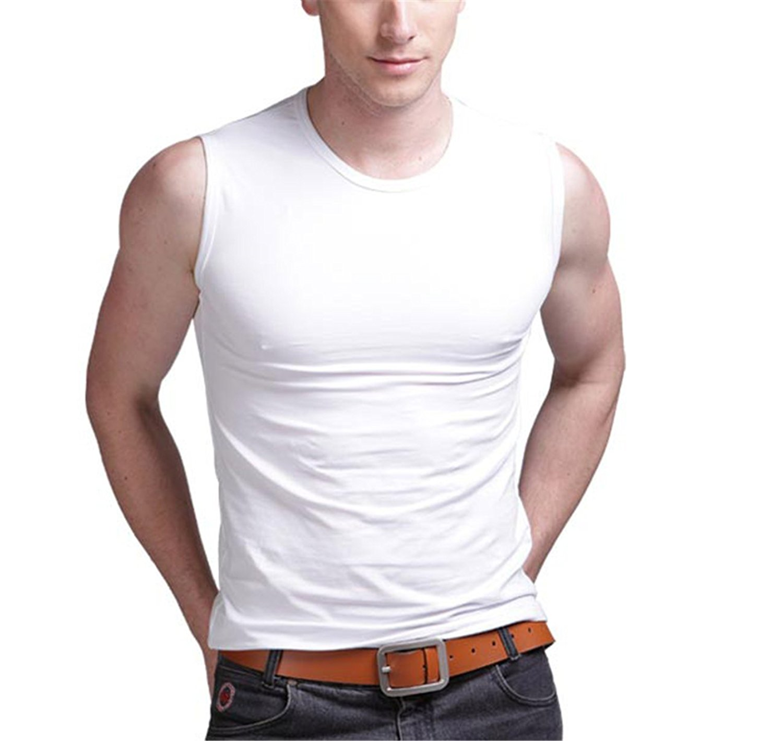 f0aa205ef7b222 Get Quotations · mens sleeveless tank tops cotton tank men s o neck top  men s underwear summer vest