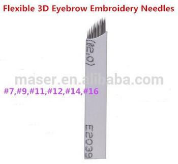 Permanent Makeup Needle Manual Eyebrow Tattoo Microblade 7 Sloped ...
