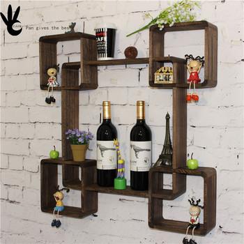 Por Mounted Artificial Coffee Mug Or Dish Antique Wood Wall Plate Rack