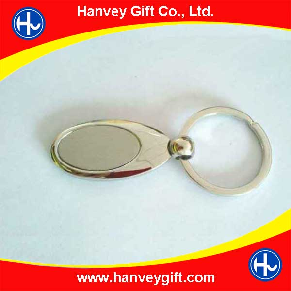 Oval Blank Metal Keychains For Epoxy Resin